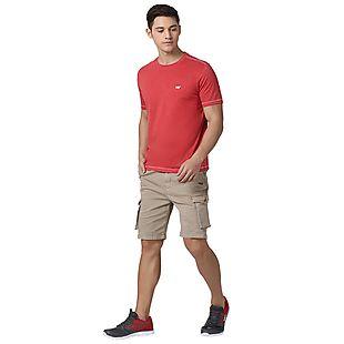 Wildcraft Men Crew T Shirt - Red Melange