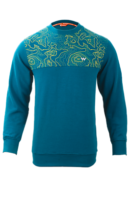 Wildcraft Men Crew Sweatshirt Arial Print