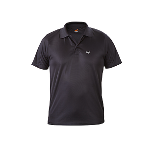 Wildcraft Men Hypacool Essential Active Polo T Shirt - Black