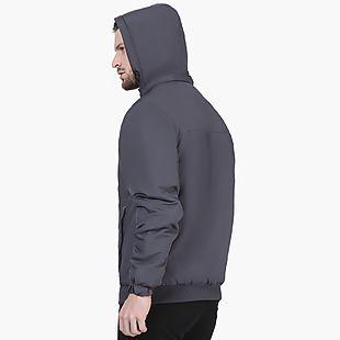 Wildcraft Men Hooded Light Quilt Jacket - Dark Grey