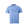 Wildcraft Men Crew T Shirt - White Blue Melange